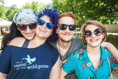 Four Friends at the Wild Goose Festival Royalty Free Stock Photo