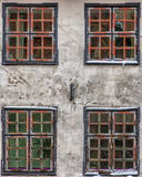 Four Front Windows Royalty Free Stock Images