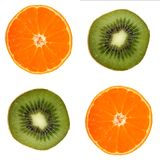 Four fruit slice Royalty Free Stock Photos