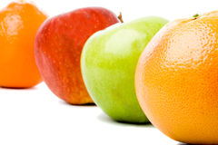 Four fruits Stock Photos