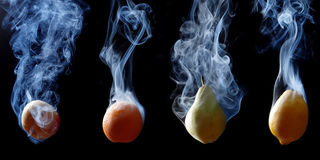 Four Fruits Stock Images