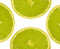 Four fruits lime. Four large limes on a white background Royalty Free Stock Photos