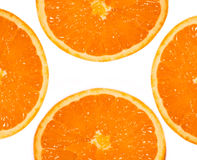 Four fruits orange. Four large oranges on a white background Stock Image