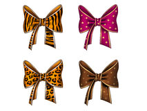 Four fun bows Royalty Free Stock Photography