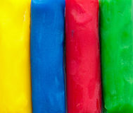 The four fundamental colours. In modelling clay Royalty Free Stock Image