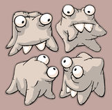 Four funny cute teeth Royalty Free Stock Image
