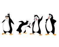 Four funny penguins Stock Photography