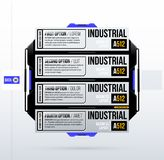 Four futuristic options template in clean hi-tech/techno style. On white background Royalty Free Stock Photo