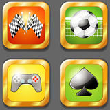 Four gaming icons Stock Image