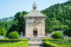 Four Gates Pagoda in Jinan Stock Images