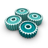 Four gears Royalty Free Stock Photos