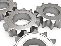 Four gears Royalty Free Stock Images