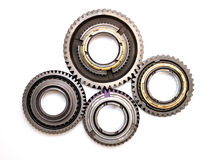 Four gears isolated. Royalty Free Stock Images