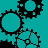 Four Gearwheels Stock Image