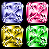 Four gems. Four different kind of gems isolated on the white Royalty Free Stock Images