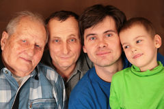 Four generations Stock Photography