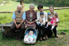 Four generations stock image