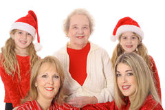 Four generations happy holidays Royalty Free Stock Image
