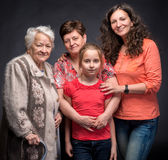 Four generations of women Stock Photos