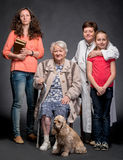 Four generations of women Stock Photography
