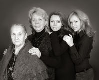 Four generations of women in a family Royalty Free Stock Images