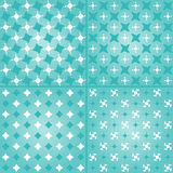 Four geometric abstract patterns set. Set of four geometric pattern. Texture with triangles Mosaic. Abstract hand-drawn pattern, waves background.  for wallpaper Stock Images