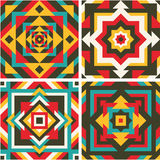 Four geometric pattern. Royalty Free Stock Image