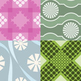Four geometric patterns Stock Photos