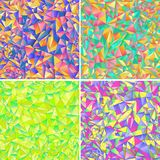 Four geometric background of colored triangle Royalty Free Stock Image