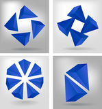 Four geometrical compositions Stock Photography