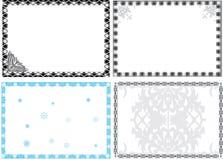 Four geometrical frames Royalty Free Stock Image