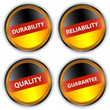 Four German labels. With quality, reliability, durability, a guarantee Royalty Free Stock Image