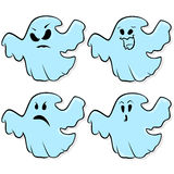 Four ghosts isolated on a white background Stock Photography