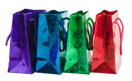 Four gift bag royalty free stock photo