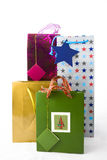 Four gift bags Royalty Free Stock Photos