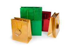 Four gift Bags. On white background Royalty Free Stock Image