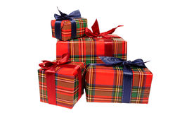 Four gift boxes Stock Images