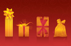 Four gift boxes Royalty Free Stock Photo