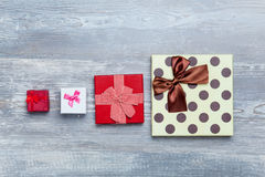 Four gift boxes Royalty Free Stock Photography