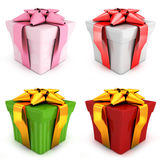 Four gift. S on white background (done in 3d Royalty Free Stock Photo
