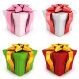 Four gift Royalty Free Stock Photo