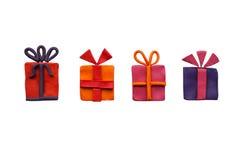 Four gift Royalty Free Stock Photos