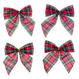 Four gift red ribbon and bow Stock Photography