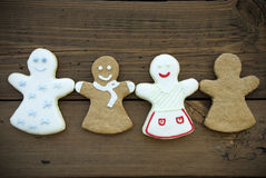 Four Ginger Bread Women Royalty Free Stock Images