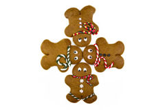 Four gingerbread men Stock Photo