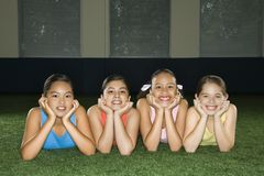 Four girl friends. Stock Image