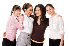 Four girl friends Royalty Free Stock Photos