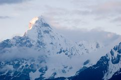Four Girl Mountain (Siguniangshan) Stock Images