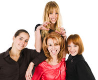 Four Girls Stock Photography