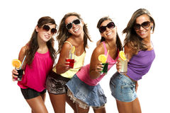 Four girls Royalty Free Stock Images